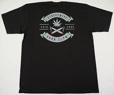 STREETWISE T-shirt HIGH TIMES Marijuana Weed Tee Men  XL,2XL,3XL,4XL Black NWT