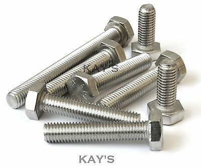 M4,M5,M6,M8 Hexagon Head Fully Threaded Set Screws A2 Stainless Steel Bolts 2