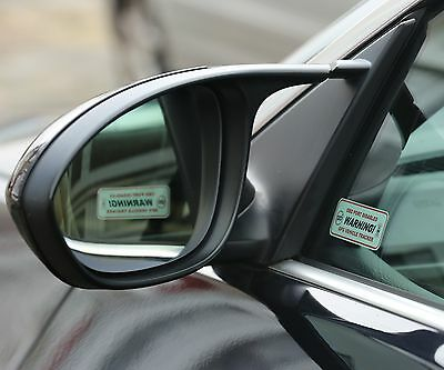 2 x WARNING: OBD PORT DISABLED & GPS VEHICLE TRACKER STICKERS STOPLOCK DISKLOK 2