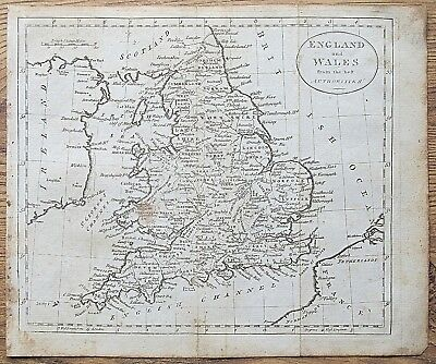12 19th Century Great Britain England Wales Various Genuine Antique Maps 3