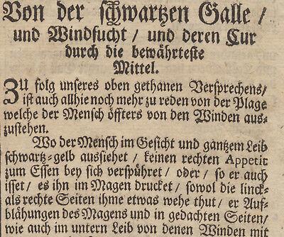 WAFFENSALBE Arzt + Apotheker MEDIZIN Orig Doppelblatt 1690 Heilkunde Rezept 5