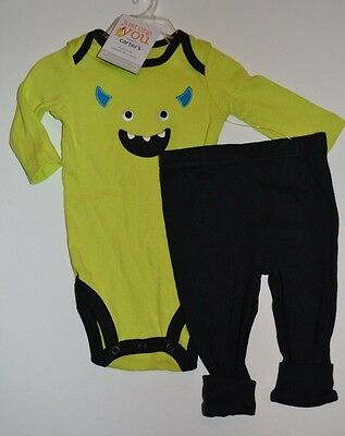 dac6841e1 ... Carter's Frankenstein Monster 2 piece Outfit Set Embroidered Halloween  Costume 3
