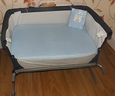2 x Baby Crib Fitted Sheets to fit Chicco Next2Me Crib - 100% Cotton 3