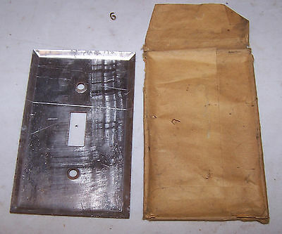 Vintage BROWN Single Gang Aluminum SWITCH COVER 2