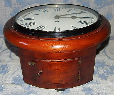 AUTHENTIC Mahogany GPO Chain Fusee Wall Clock with 10 INCH Dial 6