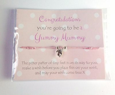 Mum to be friendship wish bracelet Baby shower gift favours Discount multibuy