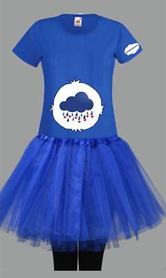 Kostüm für Glücksbärchi Fans Damen T-Shirt Tütü/Rock Gruppenkostüm Karneval JGA 11