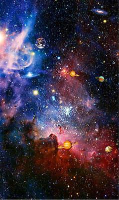 Space Galaxy Nebula Full Wall Ceiling Mural Photo Wallpaper