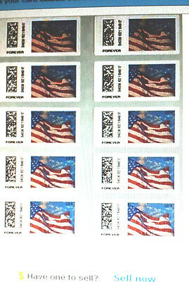 """10 USPS Forever Stamps Sheets or Strips > LOOK > """" Save Now """" < $5.20 > 2"""