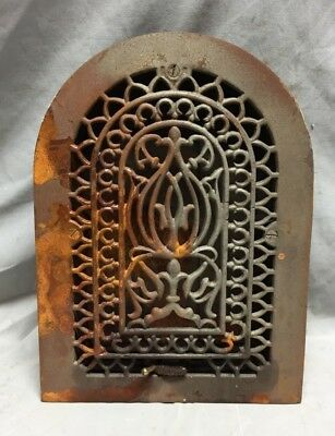 One Antique Cast Iron Arch Top Heat Grate Wall Register 8X12 Dome Vtg 24-19C 3