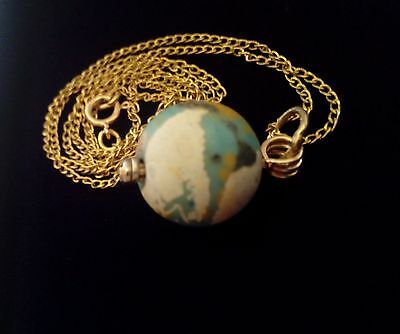 Fabulous Ancient Eastern Mediterranean  Bead And 14K Gold Chain Vintage Necklace 6