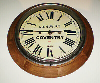 LNWR London & North Western Railway Style Coventry Station / Waiting Room Clock 3