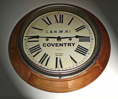 LNWR London & North Western Railway Style Coventry Station / Waiting Room Clock 4