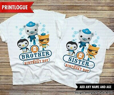 Octonauts Matching Party Shirt Details about  /Octonauts Birthday Shirt Octonauts Family Shirt
