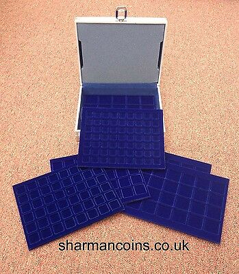 Aluminium Coin Display Case - Holds 214 Coins - 6 Trays 2
