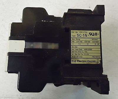 Fuji Electric Magnetic Contactor Type Sc-1N, Cat.#4Nc0T0#, Made In Japan. 2