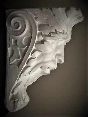 Green Man Wall Corbel Bracket Shelf Architectural Accent Home Decor 3