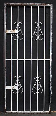 "2avail 30""x71"" Vintage Antique Steel Metal Gate Exterior Storm Screen Door Frame"