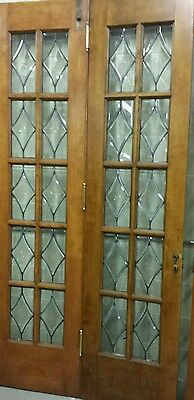 Set Of Antique Bevel Glass Bi- Fold Doors 3