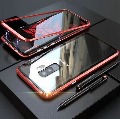 For Samsung S10//S9/S8 Note10 Plus 8/9 Magnetic case Metal Tempered Glass Cover 8