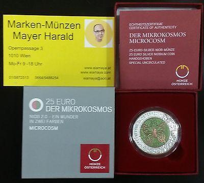 Der Mikrokosmos Österreich 25 Euro 2017 Silber Niob Münze Eiamaya 4