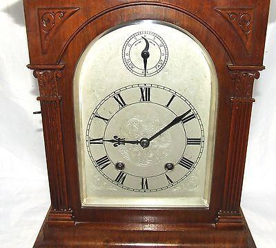 # Antique LENZKIRCH Walnut TING TANG Bracket Mantel Clock : SERVICED & WORKING 6
