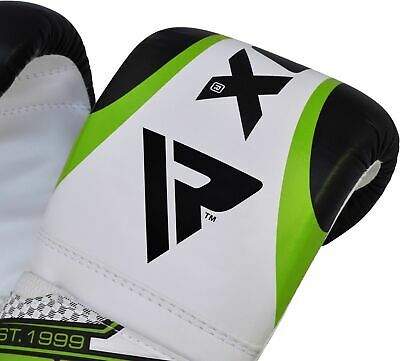 RDX Leather Punching Bag Stand Unfilled Training Mitts MMA Gloves Chains Green 5