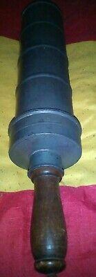 große alte SPRITZE Metall, Einlauf, Klistier ca 50 cm lang Durchmesser 10 cm 3