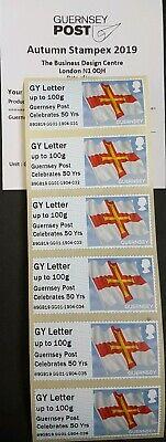 Autumn Stampex 2019 - Gg01 - 'Guernsey Flag' Collector/Local Strips - Fdi 2