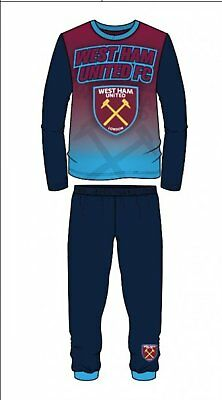 West Ham Utd FC Boys Football Pyjamas pjs Set Age 2 - 13 years HAMMERS IRONS 7
