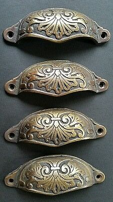 """8 Apothecary Cabinet Drawer Pull Handles  4 1/8"""" Antique Victorian  Style #A1 5"""