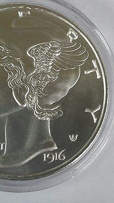 1 Oz .999 silver 1916 D Mercury Dime winged liberty large coin full bars art 3