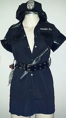 Sexy Kleid Polizei 5-teil. Outfit Gogo-Tänzerinnen Polizei Kostüm Sexy Police 2