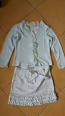Vestiti Bambina Completo Abito Gonna Plisse/' in Rete Top Stampa Glitter.Tg.6,10