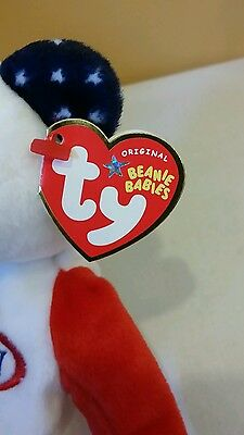 Ty BEANIE BABY SMASH the U.S. OPEN 2005 Tennis Bear RED WHITE BLUE Retired /New