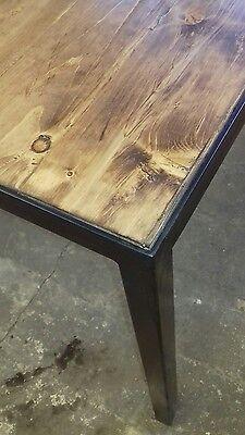 TAVOLO BASE FERRO e piano con legno massello 180 x 75 industrial ...