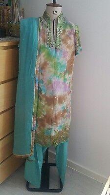 Pakistani shalwar kameez suit anarkali length size medium 2