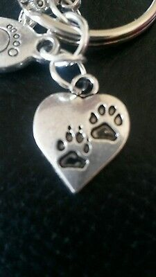 Pet Bereavement Keyring Angel Paw Keychain In Memory of Dog Sympathy Charms 3
