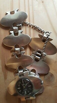 Arctos Uhr Damenuhr Silberuhr Vintage Armbanduhr Handaufzug Schmuckuhr Incabloc