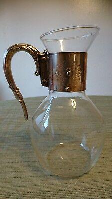 Antique Silver Plated Cut Glass Claret Jug Decanter Pitcher 2