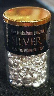 1 Troy oz .999 Fine Silver Poured Shot 31.10 Grams