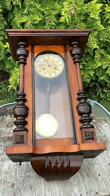 Beautiful Antique Vintage Wooden Wall Clock * 8
