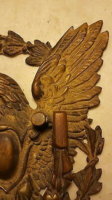 Antique Cast Brass Eagle Door Knocker-Great Detail 4