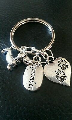 Pet Bereavement Keyring Angel Paw Keychain In Memory of Dog Sympathy Charms 2