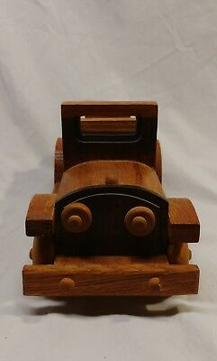 Vintage Handmade Old Model Wooden Car Handcrafted Antique Classical Collectible