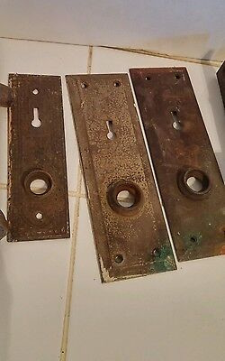 Vintage Antique Mixed Salvaged Rustic Doorknobs Latches Faceplates Corbin Yale + 3