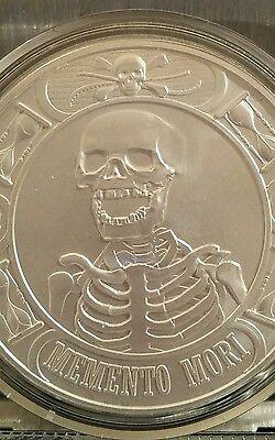 Memento Mori The Last Laugh 1 oz Silver BU Capsuled Round USA Made Bullion Coin