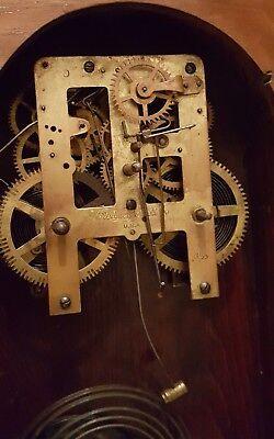 Antique Working 1870's Waterbury Clock Co. Victorian Walnut Parlor Mantel Clock 5