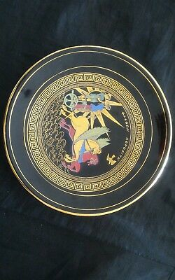 Decorative Plate Hand Made in Greece 24 K Gold Decorative Object or to Hang 4
