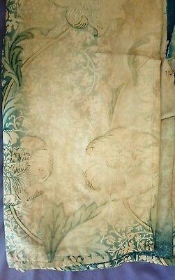 William Morris & Co Curtains ca 1900 w/ Label Arts and Crafts Design Victorian 9